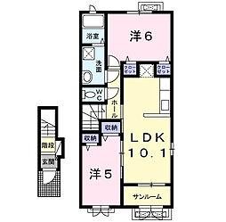 クレールAUBE・II[2階]の間取り
