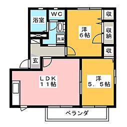 クロワール[2階]の間取り