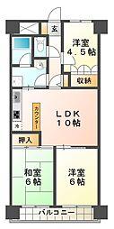 朝日プラザCITYウエストヒル神戸[11階]の間取り