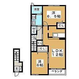 ホープヒルズ2番館[2階]の間取り