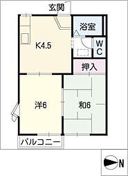 アーパスK[2階]の間取り