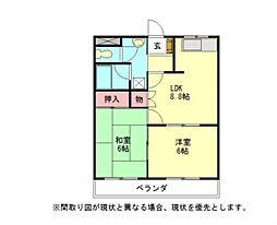 愛知県一宮市小信中島字萱場の賃貸アパートの間取り
