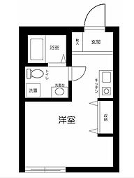 京急本線 井土ヶ谷駅 徒歩9分の賃貸アパート 1階1Kの間取り
