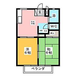 グリーンヒルズ桜ケ丘[2階]の間取り