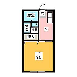 ハイツエクセル[1階]の間取り