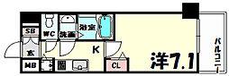 プレサンス三宮ポルト[8階]の間取り
