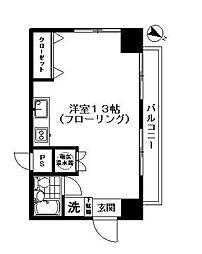 ライオンズマンション西新宿 初台5分の外観タイル貼りの分譲タ[4階]の間取り