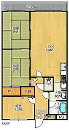 パークメゾン三箇2番館[3階]の間取り