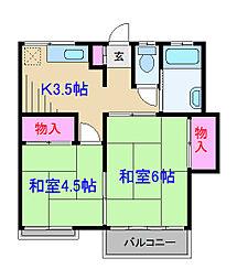 美好荘[2階]の間取り