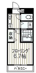 西河マンション[203号室]の間取り