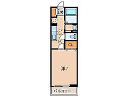 JR紀勢本線 海南駅 バス3分 大野中下車 徒歩8分の賃貸アパート 1階1Kの間取り