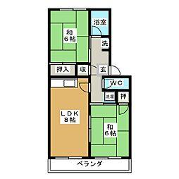 ベルメゾン松寺[2階]の間取り