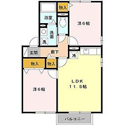 ハイム上野町 C[201号室号室]の間取り