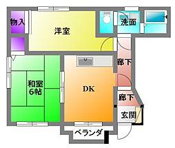 天竜浜名湖鉄道 天竜二俣駅 徒歩27分の賃貸アパート 1階2DKの間取り