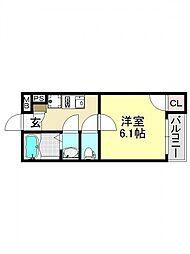モダンアパートメント平野本町[3O3号室号室]の間取り