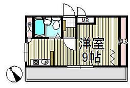 アイパレス大船[201号室]の間取り
