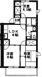 東京都あきる野市秋川2丁目の賃貸アパートの間取り
