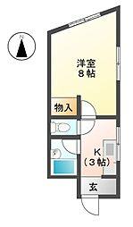 山正ビル[4階]の間取り
