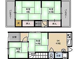 [一戸建] 大阪府東大阪市楠根2丁目 の賃貸【/】の間取り