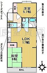 野村マンション[2階]の間取り