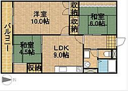 エミネンス加茂川[3階]の間取り