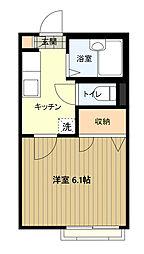 東京都八王子市中野山王1丁目の賃貸アパートの間取り