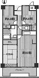 ラグゼ武庫之荘[402号室]の間取り