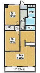 メヌエット嶋田[4階]の間取り