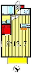 インホーム[201号室]の間取り