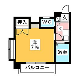 ストリームライン箱崎II[4階]の間取り