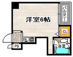 椥辻HS・ビル[705号室]の間取り