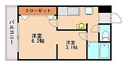 ハーモニーKハウスFRIEND'S田島[3階]の間取り