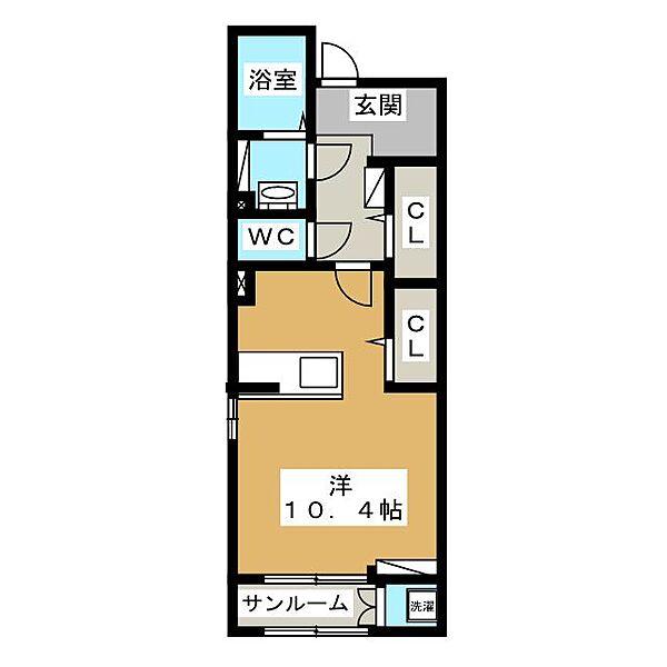エスポワールヒロ-A[1階]の間取り