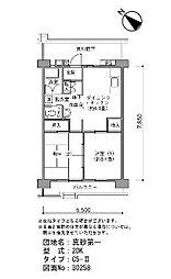 真砂第一団地5-16[6階]の間取り
