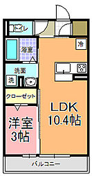 仮)D−room中成沢町[302号室]の間取り