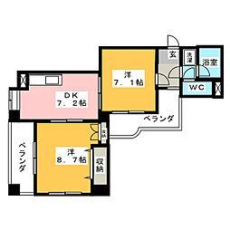 ゲストハウスレインボー伏見[9階]の間取り