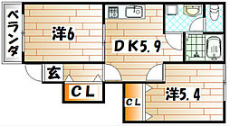 オネストハウス B[1階]の間取り