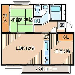 麻生台団地37号棟[5階]の間取り