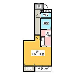 アブニールK[1階]の間取り