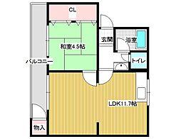 [テラスハウス] 大阪府藤井寺市林2丁目 の賃貸【/】の間取り