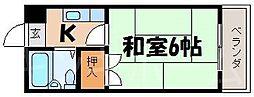 広島県広島市南区青崎1丁目の賃貸マンションの間取り