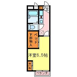 レオパレス堀田[111号室]の間取り