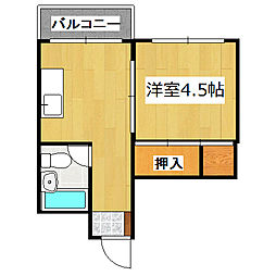 室町マンション[302号室]の間取り