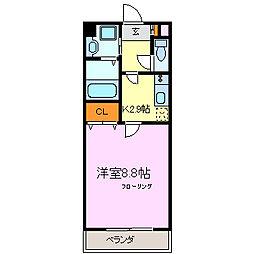 ファーストセラ21[3階]の間取り