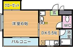 ハイスランドマンションIII[2階]の間取り