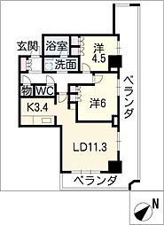 ヴィークタワー名古屋東別院510[5階]の間取り