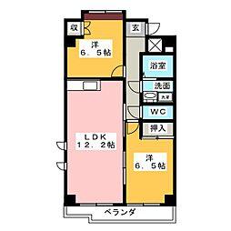 リュミエールパレ B棟[1階]の間取り
