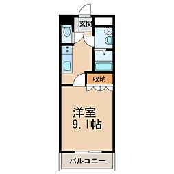 和歌山電鐵貴志川線 岡崎前駅 徒歩9分の賃貸アパート 2階1Kの間取り