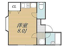 ニューライフ55[1階]の間取り