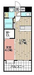 センターコート博多駅南[403号室]の間取り